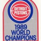 1989-90 Hoops #353B Pistons Champions MINT