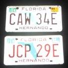 3- 90's Florida License Plates Hernando Pasco County