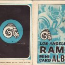 1969 Topps Football Mini Stamp Album #8 LOS ANGELES RAMS