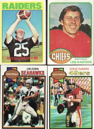 11 - 1970s Card Lot Football Stars & Rookie