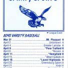 2011 Connellsville, PA Spring Sports Pocket Schedule High School
