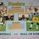 1989 Terry Bradshaw & Mel Blount Pittsburgh Steelers Pro Football HOF Poster Kodak