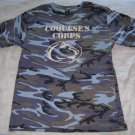 Coquese&#39;s Corps Penn State Lady Lion&#39;s Basketball Blue Camoflauge Shirt SGA