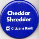 2007 PENN STATE Button CHEDDAR SHREDDER Citizen's Bank vs Wisconsin