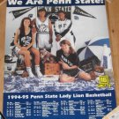 1994-95 Lady Lions Basketball Schedule Poster Katina Mack WNEP 16