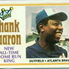 1974 Topps All-time Home Run King #1 Hank Aaron Atlanta Braves