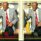 2- 1997 Press Pass Eddie Robinson #44 Coach Nebraska Football Gold & Red Version