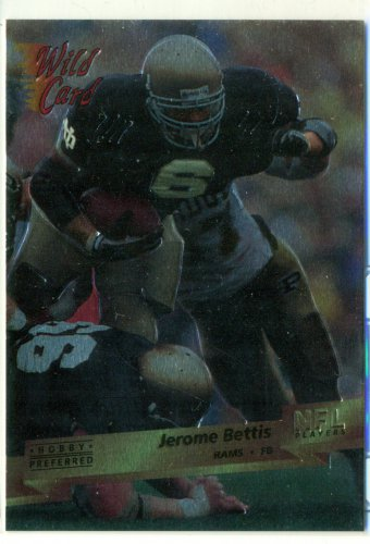 1993 Wild Card HOBBY PREFERRED #159 Jerome Bettis RC Notre Dame Steelers