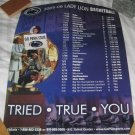 2005-06 Lady Lions Basketball Schedule Poster NEW