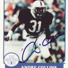1988 Second Mile Andre Collins Autographed Penn State Trading Card