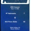2002 Penn State vs Nebraska Football Game DVD 40-7 Paterno LJ