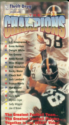 The Champions Pittsburgh Steelers Giant Eagle 1996 VHS 70's Steelers Noll Greene NEW SEALED