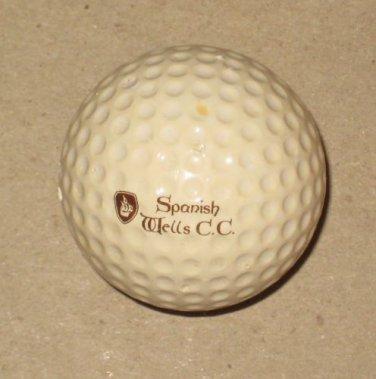 Spanish Wells C.C. Vintage Spalding Logo Golf Ball Bonita Springs FL 336 Dimples