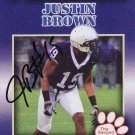 2011 Second Mile Justin Brown Signed Penn State Trading Card