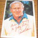 """Arnold Palmer Jiffy Lube Advertising Postcard 5.5""""x7"""" Thanks for coming to Jiffy Lube"""