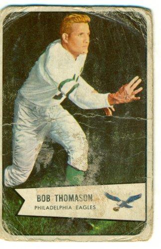 1954 Bowman Football Card# 45 Bobby Thomason Eagles