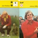 4- 1977 Sportscaster Cards Jack Nicklaus, Johnny Miller & Bob Charles Golf Cards