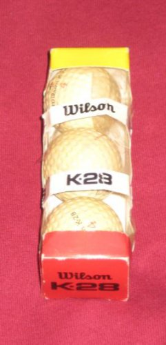 Vintage WILSON K28 Golf Ball Sleeve #4 Balls 3 Ball Sleeve