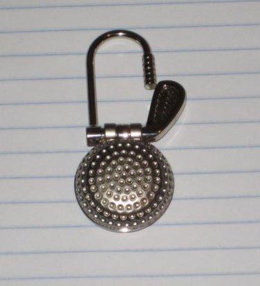 Golf Club & Ball Keychain Quartz Clock Pocket Watch 3 inches Sweet & Clean