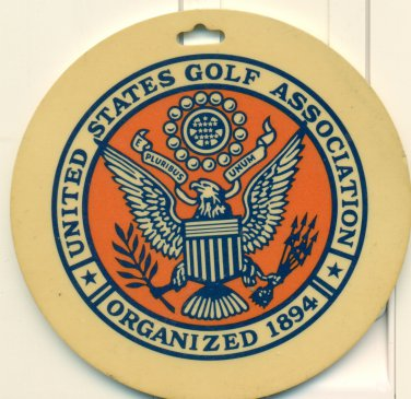 1977-78 USGA Associate Golf Bag Tag Unites States Golf Association