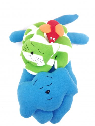 Stuffed animal sewing patterns with children's story.  Snippet's Snoozefest.