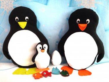 Penguin Sewing Pattern, Plushie Pattern