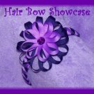 Headband with Flower Loop Hair Bow Clip