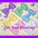A Beautiful Collection of Tuxedo Baby Hair Bows in Pastel