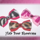 A Captivating Collection of Animal Print Baby Tuxedo Hair Bows