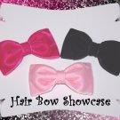 An Elegant Collection of Velvet Tuxedo Baby Hair Bows