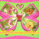 Piglet and Winnie the Pooh Hair Bow Clip