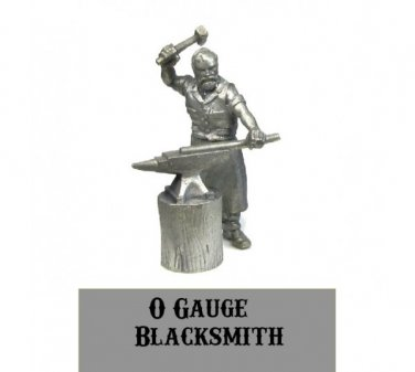 O scale Blacksmith with Anvil 1/48 scale Western Rails