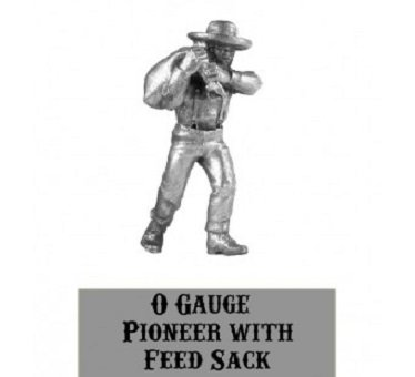 O scale Farmer with Feed Sack 1/48 scale Western Rails