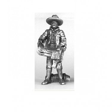 Cowboy with Saddle & Blanket 1/48 scale O guage