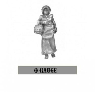 O On30 On3 Woman carrying Egg Basket 1/48 Western Rails