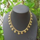 Handmade Boho Thai Craft NECKLACE Brass Beads Spirals