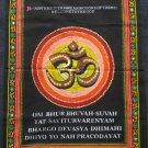 Hindu Om Ohm Aum Sign Peace India Wall Hanging MEDIUM
