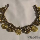 New Handmade Craft ANKLET Brass Bells Spirals Flowers