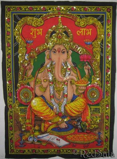 Hindu Elephant Deity GANESH Ganesha India Tapestry
