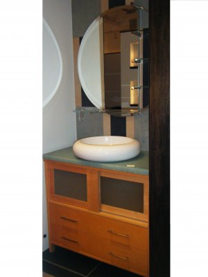 *Ron Bow Contemporary Standing Vanity