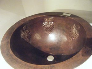 *Native Trail Grapes  Copper Sink