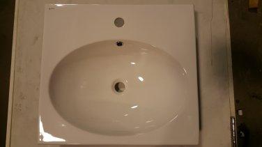 *Inax Rectangular White Drop-In Sink