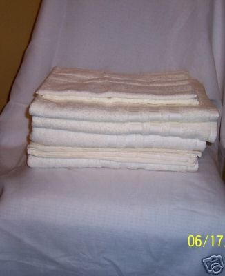 6 PC BELLINO BATHROOM TOWEL SET, 100% EGYPTIAN COTTON