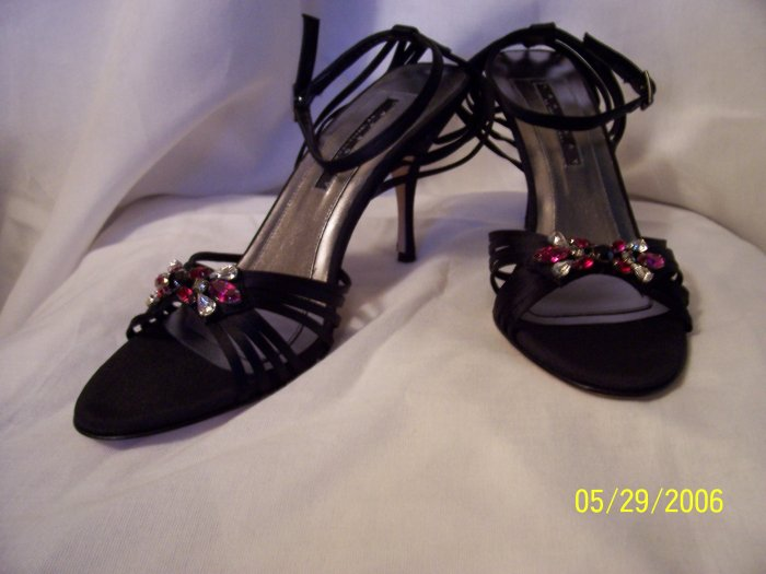 "WOMENS SHOES from LAUNDRY by SHELLI SEGAL, ""KACY"" JEWEL SLINGBACKS, SZ 8, RET. $161"
