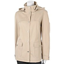 WOMENS COAT/RAINCOAT BY GALLERY, SIZE LARGE, RET $140