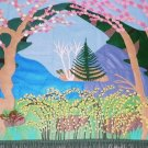 Reservoir in Early Spring Large Wall Hanging by Alina Deutsch