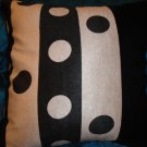 Polka Black and White Throw Pillow Cover
