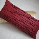 Burgundy Red Throw Pillow Cover