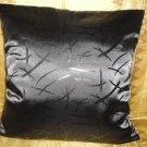 Takka Black Throw Pillow Cover