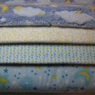 "MOON and STAR- Rag Quilt Kit 84 6"" Squares Baby Toddler"